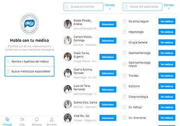 CMED crea su propia aplicación para el servicio de Video Consulta